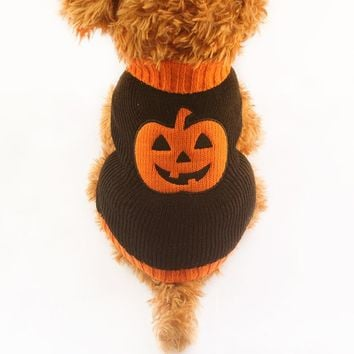 Armi store Halloween Pumpkin Pattern Dog Sweater Knitted Sweaters For Dogs 6091012 Puppy Autumn / Winter Clothing Supplies