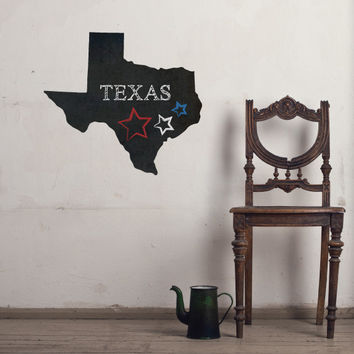 Texas Chalkboard State wall decal