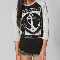 YOUNG & RECKLESS Bon Voyage Womens Baseball Tee