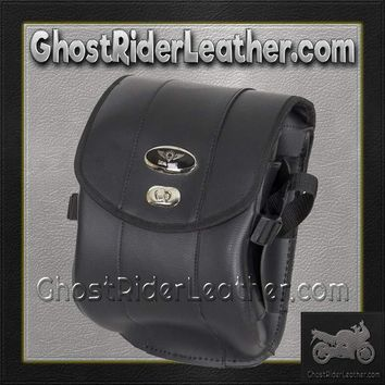 Decorative Motorcycle Leather Sissy Bar Bag with Gun Holster/ SKU GRL-SB86-DA-DL