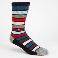 Stance Booth Mens Crew Socks Black Combo One Size For Men 25883214901