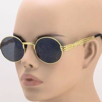 ELITE ROUND CLASSIC OVAL LUXURY SUNGLASSES JOHN LENNON CIRCLE STEAMPUNK HIP HOP