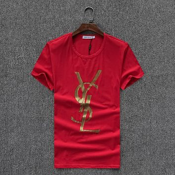 Trendsetter YSL Women Man Fashion Print Sport Shirt Top Tee
