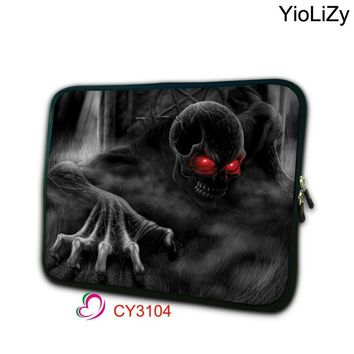 Skull Tablet notebook Bag Laptop case 7.9 9.7 10.1 11.6 13.3 15.4 15.6 17.3 inch protective bag Ultrabook liner Sleeve