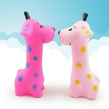 Soft Rubber Bath Baby Giraffe Squeeze Toy