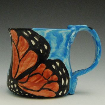 Ceramic Monarch Butterfly Mug Made to Order by JudyBFreeman