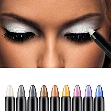 2016 New 1pc Beauty Highlighter Eyeshadow Pencil Cosmetic Glitter Eye Shadow Eyeliner Pen