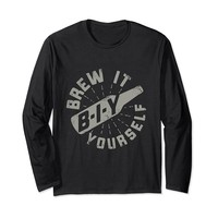 B-I-Y Brew It Yourself Funny Brewing Long Sleeve T-Shirt