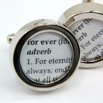 Wedding Cufflinks  Definition of  FOREVER  Love  by GwenDelicious