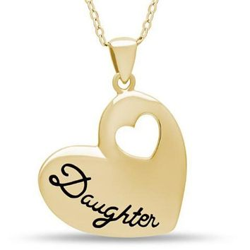 Daughter Necklace, 925 Silver, 14k Gold Plated