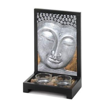 Buddha Plaque Candle Decor (pack of 1 SET)