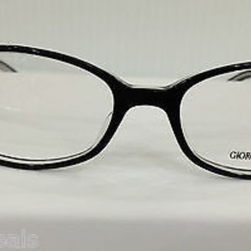 NEW AUTHENTIC GIORGIO ARMANI GA 160 COL MH9 BLACK PLASTIC EYEGLASSES FRAME 48MM