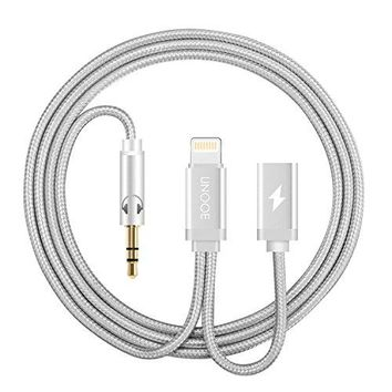 UNOOE iPhone 8 / 7 AUX Cord and Charger Adapter