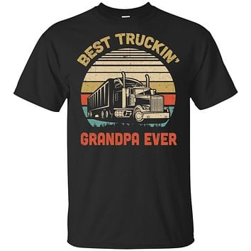 Vintage Best Truckin' Grandpa Ever Fathers Day Gift