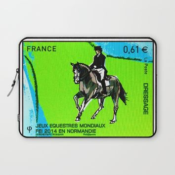 2014 FEI World Equestrian Games in Normandy DRESSAGE Laptop Sleeve by lanjee