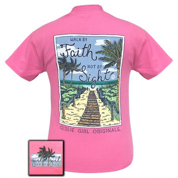 Girlie Girl Preppy Walk By Faith, Not By Sight Beach T-Shirt