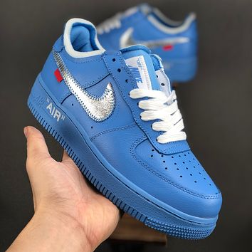 Off-White x Nike Air Force 1 Low Purple White Red Black Yellow Blue Sneaker - Best Deal Online