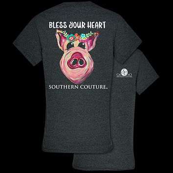 Southern Couture Classic Bless Your Heart Pig T-Shirt