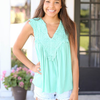 Quiet Nights Top - Mint