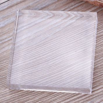New Acrylic Plate Clay Pottery Sculpture Working Bench Tool DIY Transparent Stamp Pressure Plate Hot Sale #232297