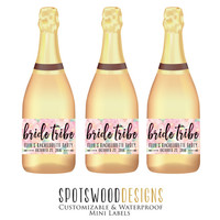 Bride Tribe Custom Champagne Label. Wine Label. Bachelorette Party Decorations. Bachelorette Weekend. Bachelorette Bride Tribe.
