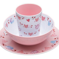 NEW Mimiamo Cupcake Three Piece Melamine Gift Set - Plate, Bowl, and Cup