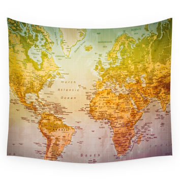 Society6 Colorful World Wall Tapestry