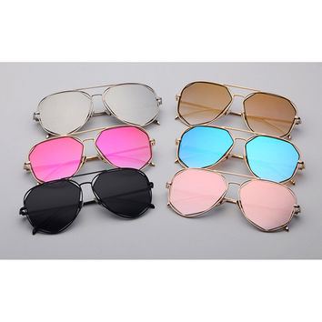 ROYAL GIRL New Classic Cool Sunglasses Women Brand Designer Reflective Coating Mirror Sun Glasses Me