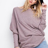 Easel off the shoulder thermal tunic