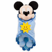 "disney parks 10"" baby mickey mouse plush toy with blanket new with tag"