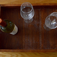 Reclaimed Wood Tray - Wood Serving Tray - Pallet Wood Tray - Rustic Wood Tray - Kitchen Tray - Tray With Handle - Wooden Tray - Coffee Table
