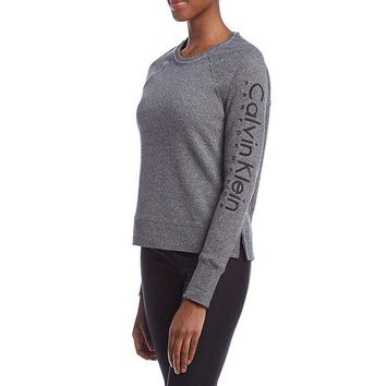 Calvin Klein Performance Embroidered Logo Sweatshirt