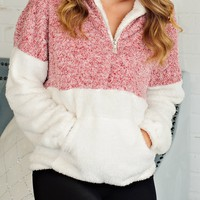 * Sheena Fuzzy Pullover: RED