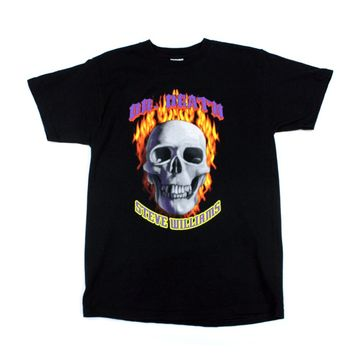 DR. DEATH STEVE WILLIAMS FLAME SKULL T-SHIRT MED