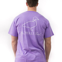 Properly Tied Faded Logo S/S Tee in Violet