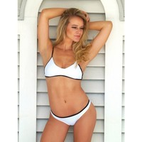 White w/ Black Trim Madison Top by Surf Style