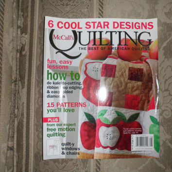 2009 Quilt Magazine McCALL'S QUILTING Presents 6 Cool Star Designs Edition / Contains 15 Quilt Patterns