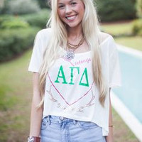 Alpha Gamma Delta Greek Crop Top