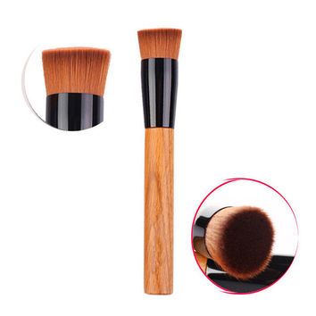 Professional Foundation Makeup Brushes Women Flat Contour Powder Make Up Brushes Multiple Functions