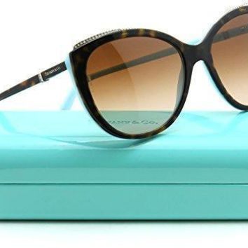Tiffany & Co. Tf 4134b Womens Cat Eye Brown Gradient Sunglasses 81343b