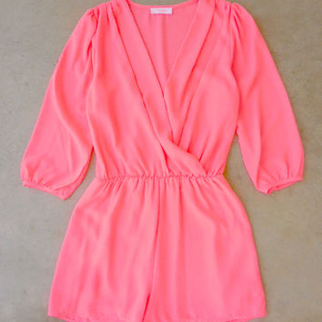 Coronado Romper in Hot Pink