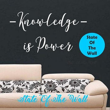 Knowledge Wall Decal Sticker Ver 2 Art Decor Bedroom Design Mural interior design Science Education Art educational vinyl Modern
