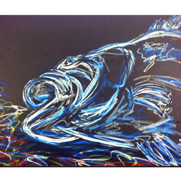 Fish Drawing - Oil Pastel - Pastel Art - SamIamArt