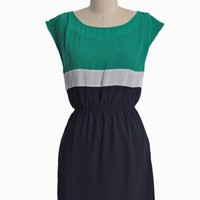 flower market colorblocked dress in green at ShopRuche.com