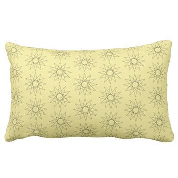 Stylish Sunny Throw Pillow