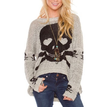 Skull Sweets Oversized Sweater