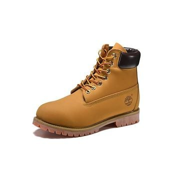 Timberland 10061 Leather Lace-Up Boot Men Women Shoes Yellow