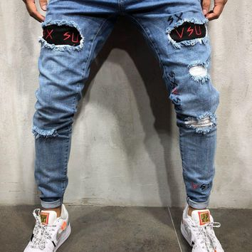 Patched Jeans Ripped&Repaired
