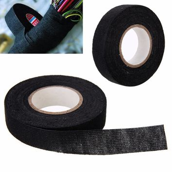 19mm X 15M Cloth Adhesive Fabric Wiring Harness Tape High Temp Weft Tapes For Looms Cars