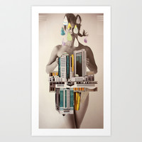 deux Art Print by Cardboardcities